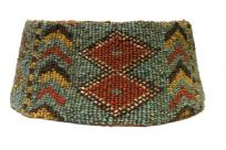 A SUPERB MODANG/BAHAU BEADED HAT