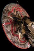 FINE DAYAK SUN HAT WITH FEATHERS